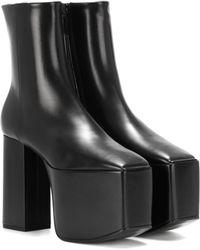 cc59bfb06e0 Balenciaga - Leather Platform Ankle Boots - Lyst