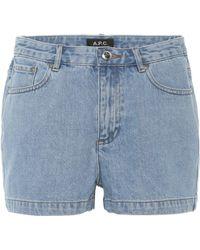 A.P.C. - High Standard Denim Shorts - Lyst