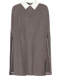 Fendi - Checked Wool Minidress - Lyst