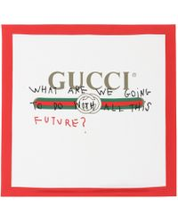 Gucci - Printed Silk Scarf - Lyst