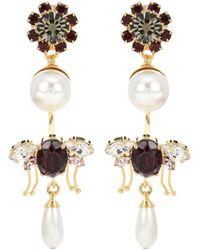 Erdem - Crystal-embellished Clip-on Earrings - Lyst