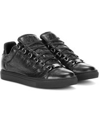 Balenciaga - Arena Leather Sneakers - Lyst