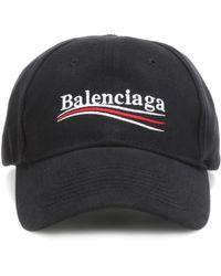 Balenciaga - Embroidered Cotton Baseball Cap - Lyst