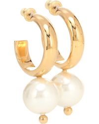 Simone Rocha - Faux Pearl Hoop Earrings - Lyst