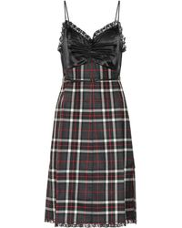 bb4d9859a9d Lyst - Miu Miu Embellished Open-back Crepe Dress in Black