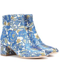 Tory Burch - Shelby 50 Brocade Ankle Boots - Lyst