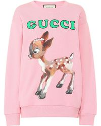 Gucci - Oversize Sweatshirt With Fawn - Lyst