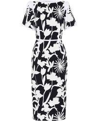 Oscar de la Renta - Floral-printed Cotton Dress - Lyst