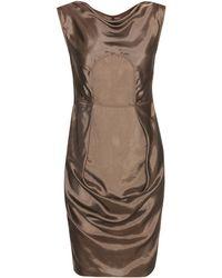 Rick Owens - Ruched Satin Mini Dress - Lyst