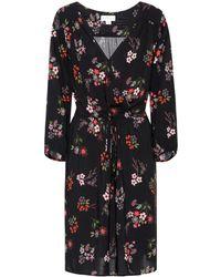 Velvet - Floral Wrap-effect Dress - Lyst