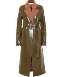 Victoria Beckham - Vinyl And Wool Coat - Lyst