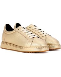 Brunello Cucinelli   Leather Trainers   Lyst