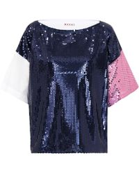 Marni - Sequinned Top - Lyst