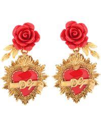 Dolce & Gabbana - Rose Clip-on Earrings - Lyst