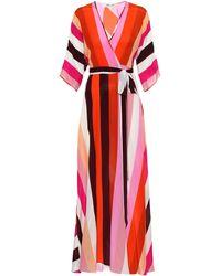 Diane von Furstenberg - Eloise Striped Silk Maxi Dress - Lyst