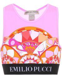 Emilio Pucci - Printed Sports Bra - Lyst