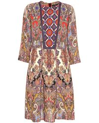 Etro - Paisley And Floral-printed Dress - Lyst
