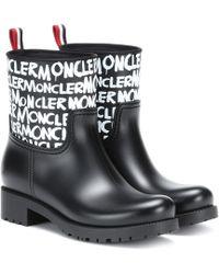 Moncler - Ginette Stivale Logo Waterproof Rain Boot - Lyst