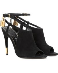 Tom Ford - Peep-toe Suede Sandals - Lyst
