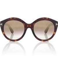 d4a6bd7c24 Tom Ford - Rosanna Round Sunglasses - Lyst