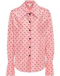 Marc Jacobs - Polka-dot Silk Shirt - Lyst