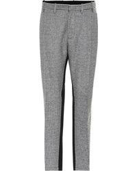 N°21 - Houndstooth Wool-blend Pants - Lyst