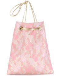 Prada   Wool And Silk-blend Jacquard Shoulder Bag   Lyst
