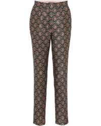 Dolce & Gabbana - Floral Brocade Tailored Pants - Lyst