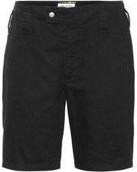 Saint Laurent - Shorts aus Baumwolle und Ramie - Lyst