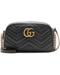 Gucci - Gg Marmont Matelassé Leather Crossbody Bag - Lyst