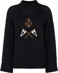 Polo Ralph Lauren - Crest Embroidered Wool Jumper - Lyst