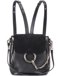 Chloé - Faye Leather And Suede Backpack - Lyst