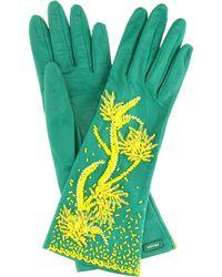 Prada - Exclusive To Mytheresa.com – Embellished Leather Gloves - Lyst