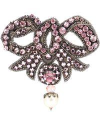 Gucci - Crystal-embellished Bow Brooch - Lyst