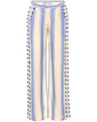 Dodo Bar Or - Embroidered Cotton Trousers - Lyst
