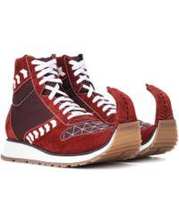 Loewe - Suede Sneakers - Lyst