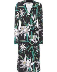 Diane von Furstenberg - Cybil Floral-printed Silk Dress - Lyst