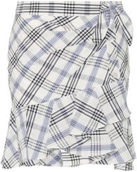 Veronica Beard - Kaia Checked Cotton-blend Miniskirt - Lyst