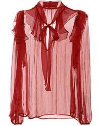 Dolce & Gabbana - Silk Chiffon Blouse - Lyst