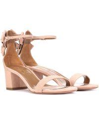 Aquazzura - Siena 50 Suede Sandals - Lyst