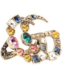 Gucci - Double G Multi-finger Ring - Lyst