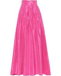 Carolina Herrera - Silk Taffeta Skirt - Lyst