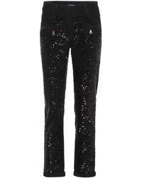 Balmain - Verzierte Jeans aus Baumwolle - Lyst