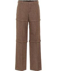 Balenciaga - Checked Wool Trousers - Lyst