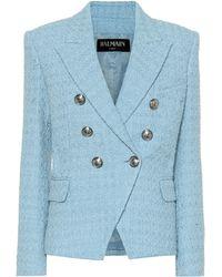 Balmain - Tweed Blazer - Lyst
