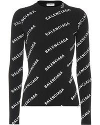 Balenciaga - Pullover mit Logo-Print - Lyst
