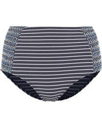 Jonathan Simkhai - High-waisted Striped Bikini Bottoms - Lyst