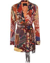 Etro - Patchwork-printed Satin Jacket - Lyst