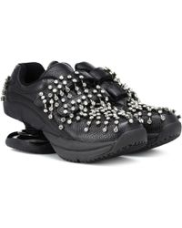 Christopher Kane - Crystal Leather Sneakers - Lyst