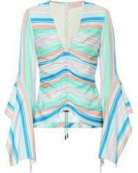 Peter Pilotto - Striped Bell Sleeve Top - Lyst